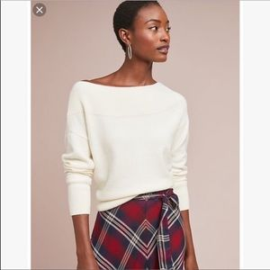 Anthropologie Moth Raspail Boatneck Sweater petite